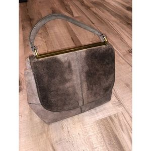 J.Crew suede purse